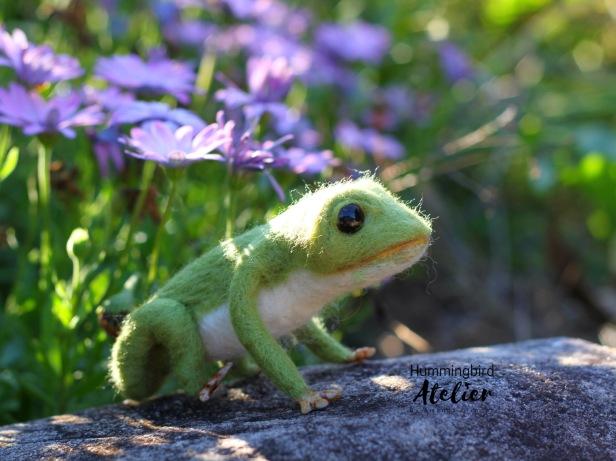 Frog Prince Needle felted australia