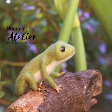 Frog prince needle felting australia